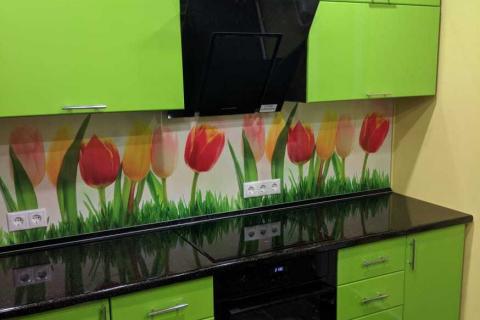 Кухня на заказ зеленая