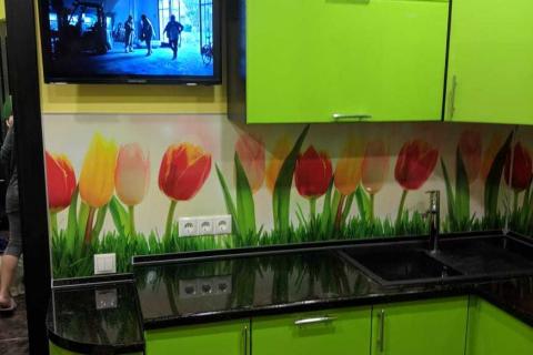 Кухня на заказ зеленая2