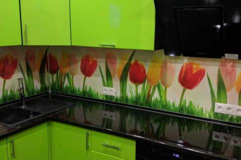 Кухня на заказ зеленая3