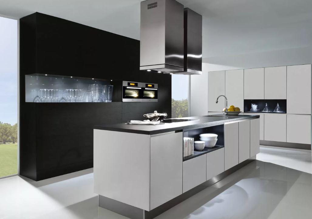 Кухня в стиле модерн на заказ с островом