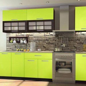 Кухня зеленая на заказ в Москве